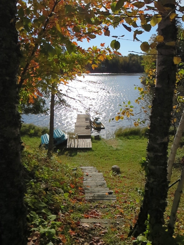 Hütteneigener Zugang zum Briar Lake