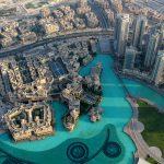 Blick von oben auf die Dubai Fountain