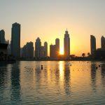 Sonnenuntergang Dubai Fountain