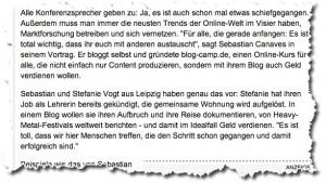 Erwähnung unseres Lebensstils bei spiegel.de