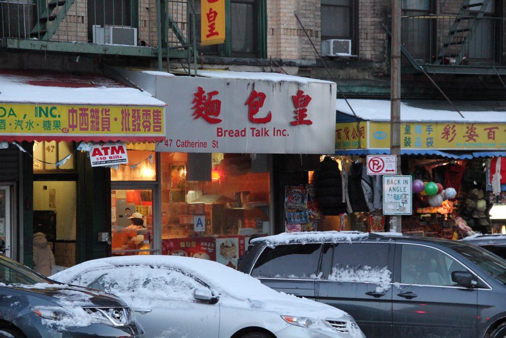 Blick auf ein paar Läden in Chinatown, New York