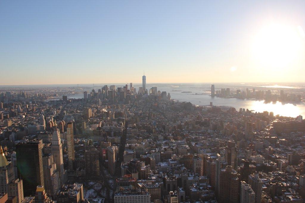 Blick vom Empire State Building Richtung Staten Island