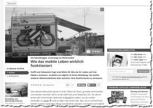 Artikel über unser Leben im Wohnmobil online bei promobil