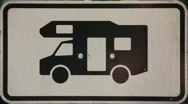 Wohnmobil-Schild