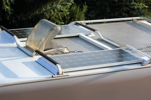 Solaranlage auf dem Wohnmobil