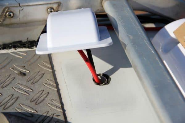 Wohnmobil Dachdurchführung aufkleben
