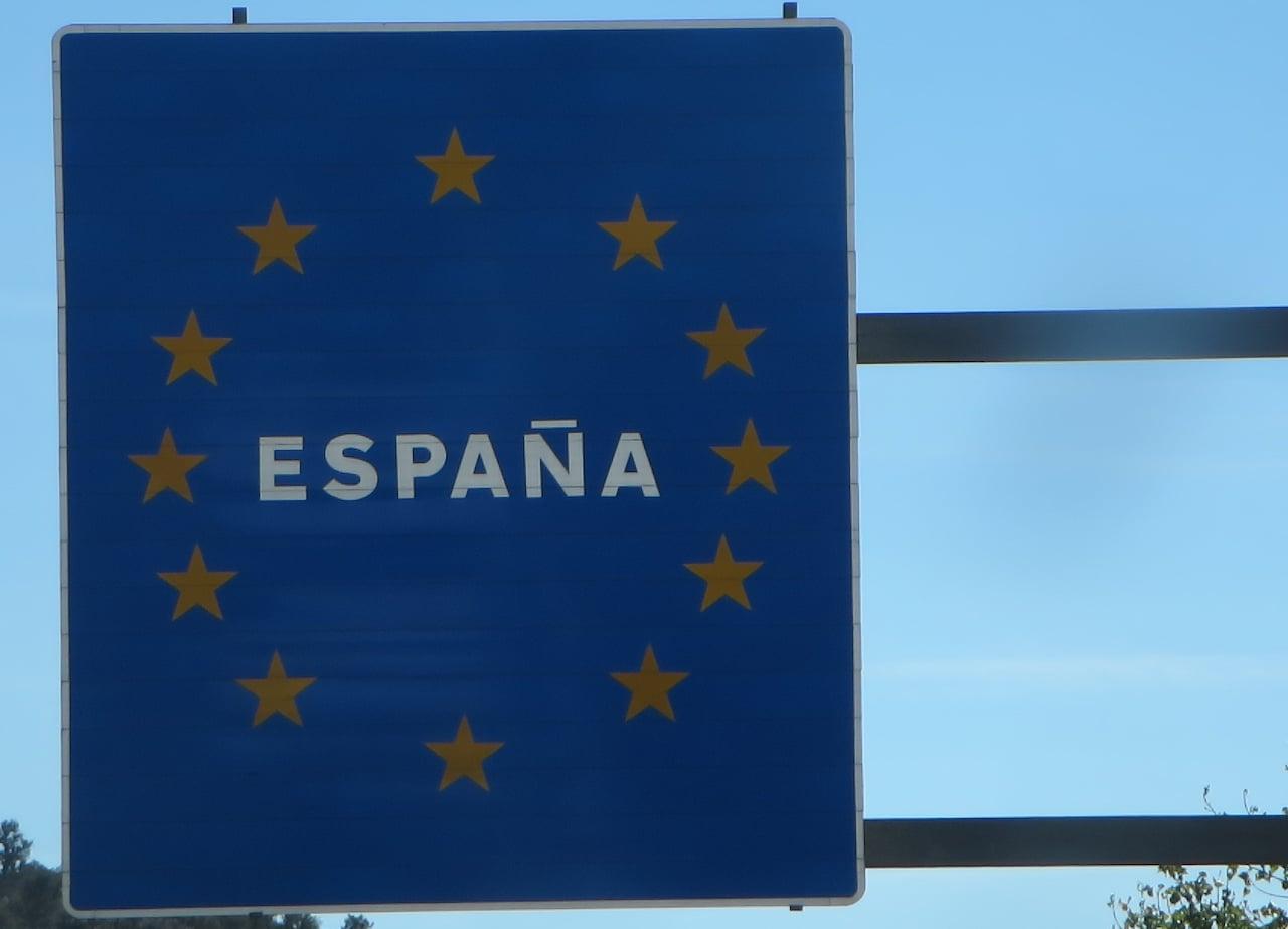 Ein Landesschild von Spanien