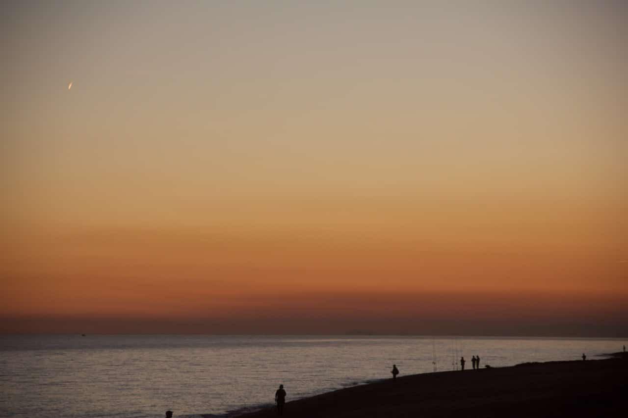 Ein Sonnenuntergang am Meer