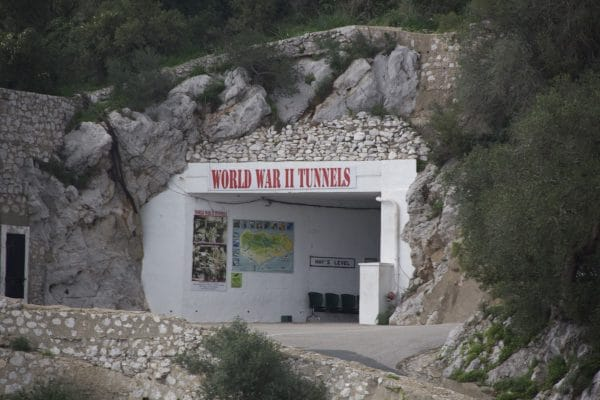 World War II Tunnel in Gibraltar