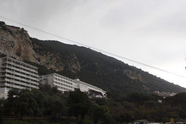 Cable Car den Felsen von Gibraltar hinauf