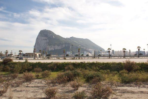 Der Felsen von Gibraltar von unserem Stellplatz aus gesehen