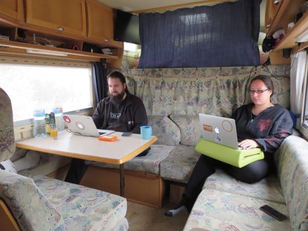 Arbeiten unterwegs - im Wohnmobil